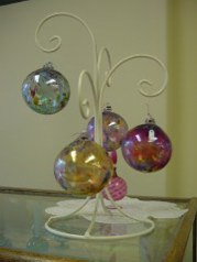 We carry a variety of handcrafted glass ornaments.